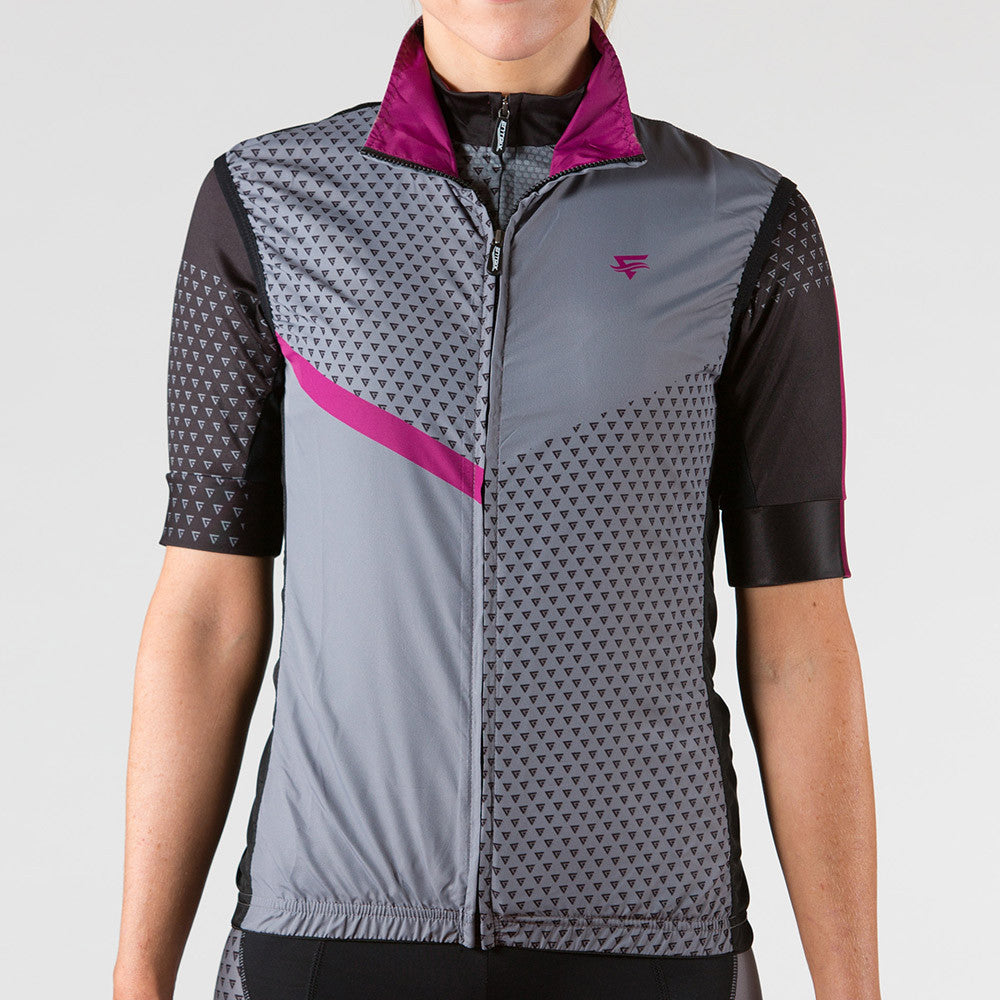 Venture Cycling Wind Vest Berry - ENTRIX