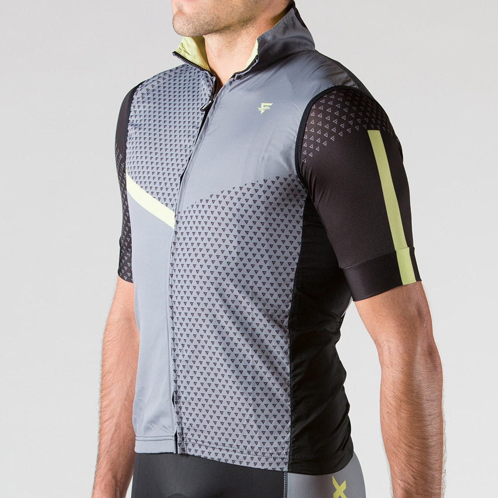 Venture Cycling Wind Vest Wild Lime - ENTRIX