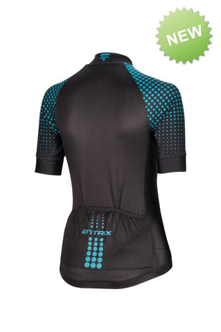 Pure Cycling Jersey Mens - Black/Teal - ENTRIX