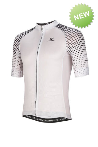 Digital Cycling Jersey Mens - White/Black