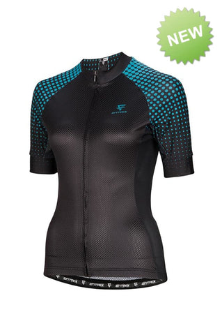 Pure Cycling Jersey Womens - Black/Teal - ENTRIX
