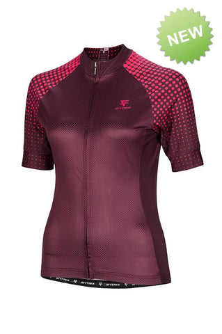 Womens Venture Cycling Jersey (Long Sleeve) Berry