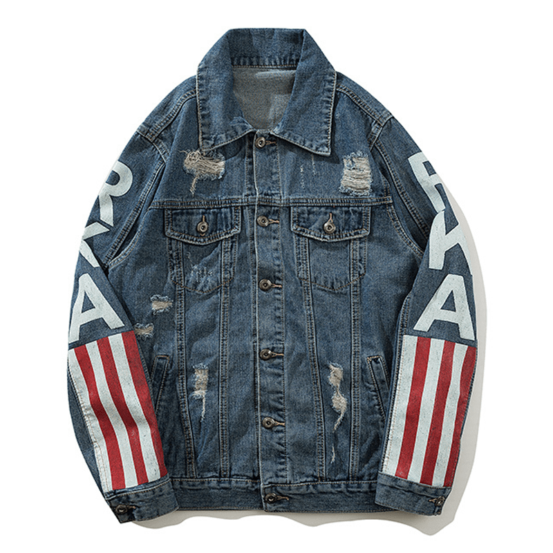 American Flag Denim Jacket - Umension