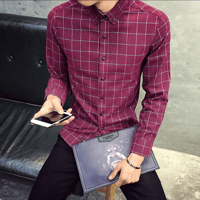 Casual Break Plaid Shirt - Umension