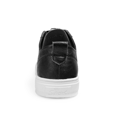 Comfortable Leather Flat Sneakers - Umension
