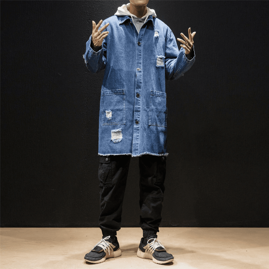 Denim Blue Windbreaker - Umension