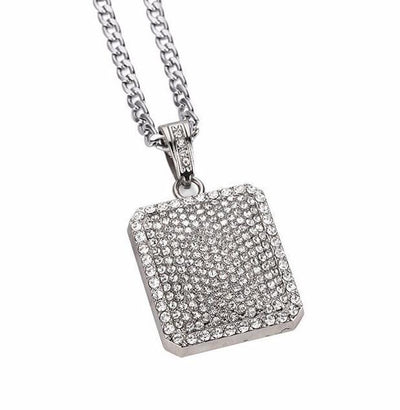 Diamond Square 18K Gold Plated Necklace - Umension
