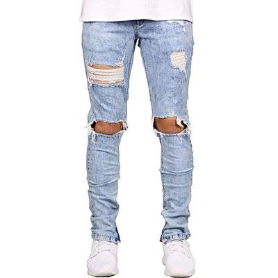 Distressed Light Blue Jeans - Umension