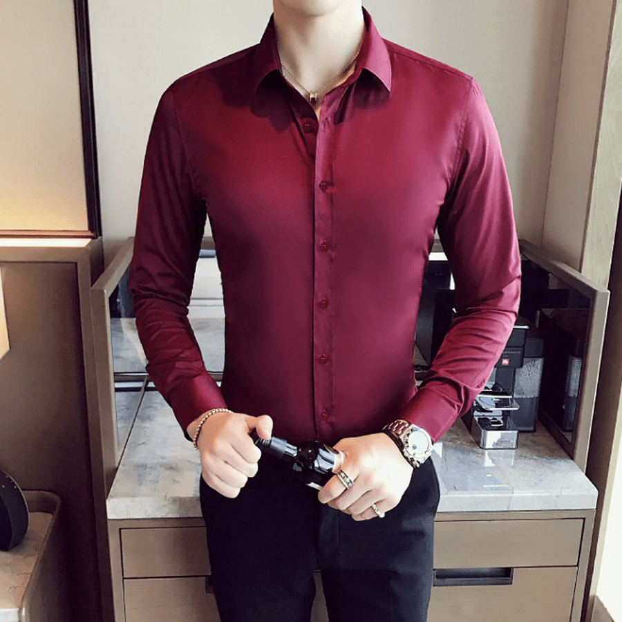 Elastic Slim Fit Shirt - Umension
