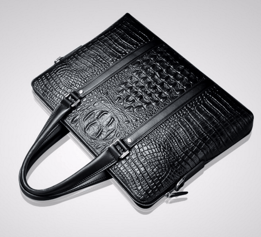Faux Crocodile Leather Hand Bag - Umension