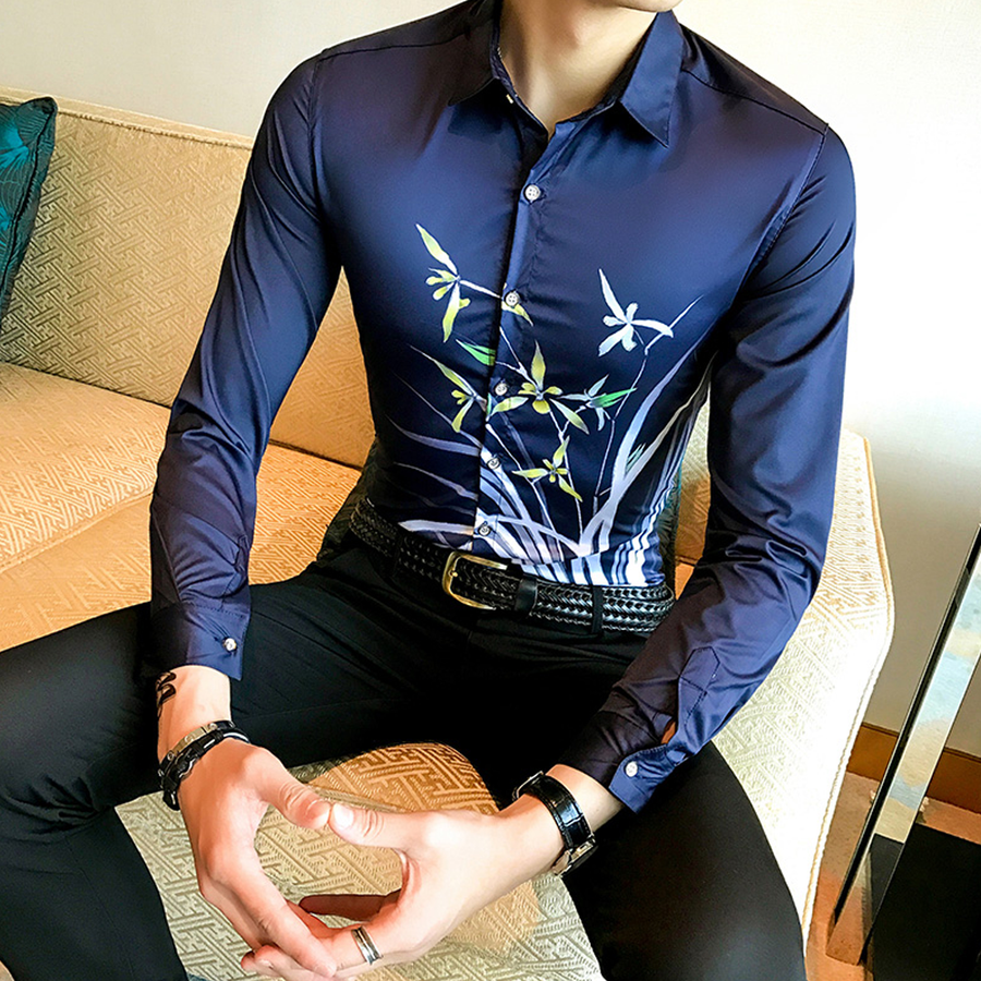 Floral Printed Slim Fit Shirt - Umension