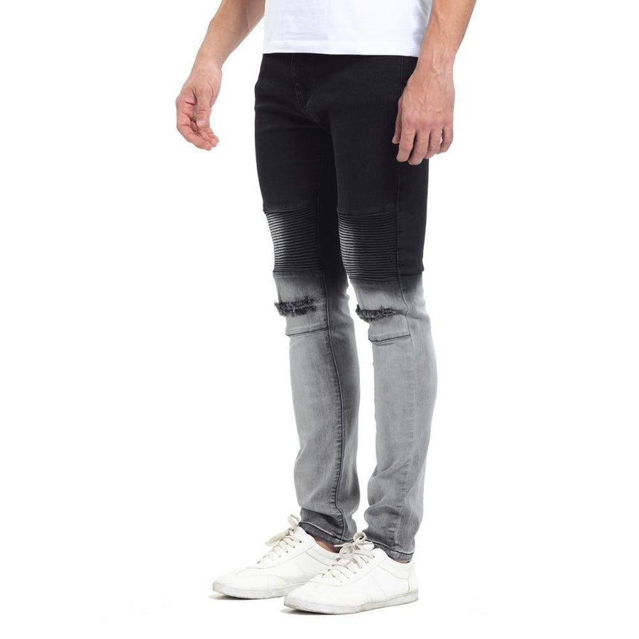 Gradient Slim Fit Ripped Jeans - Umension