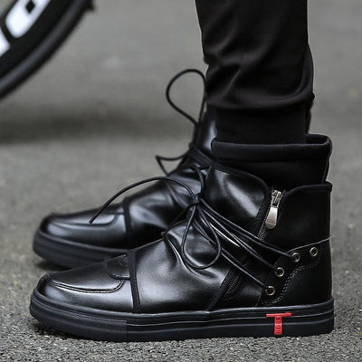 Lace Up High Top Sneakers - Umension