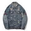 Letter Burst Denim Jacket - Umension