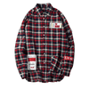 Plaid Patchwork L/SLV Casual Shirt - Umension