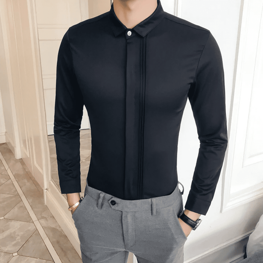 Slim Fit Tuxedo Shirt - Umension