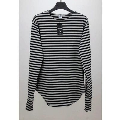 Striped Oversize Long Sleeve Top - Umension