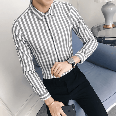 Striped Slim Fit Casual Shirt - Umension