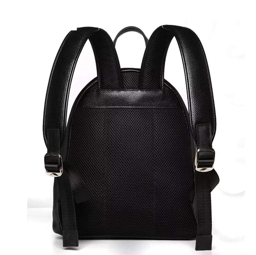 The Eyes Black Genuine Leather Backpack - Umension