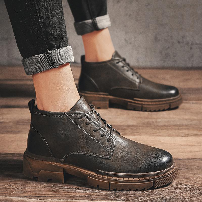 Zing Leather Boots - Umension