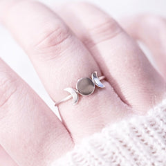 Goddess moon ring