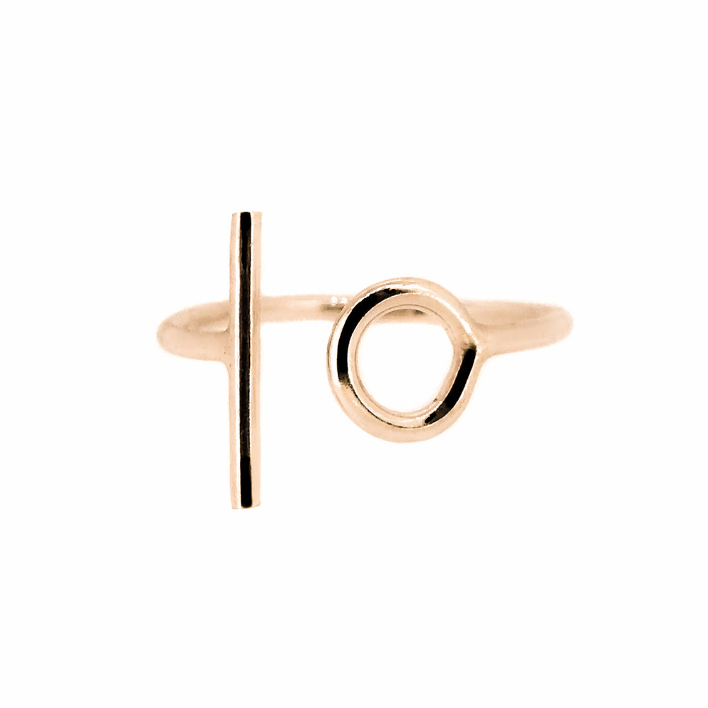Circle & Line Ring | 18ct Rose Gold