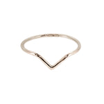 Chevron Ring | 18ct Rose Gold