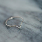 Sterling silver chevron dainty ring - Stockholm Rose Designs
