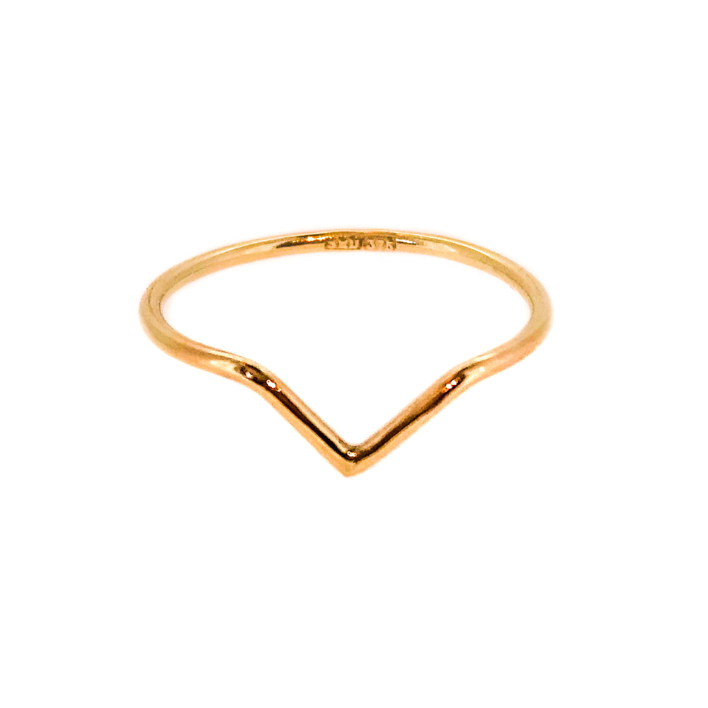 Chevron Ring - 9ct Yellow Gold