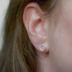 Hammered Circle Studs - Small | Sterling Silver