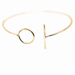 Circle & Line Cuff | 18ct Yellow Gold