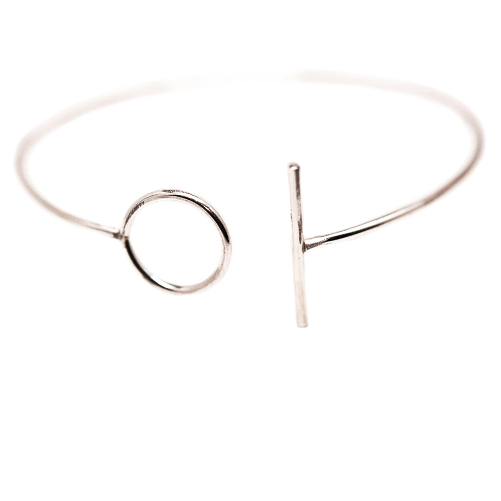Circle & Line Cuff | 18ct White Gold