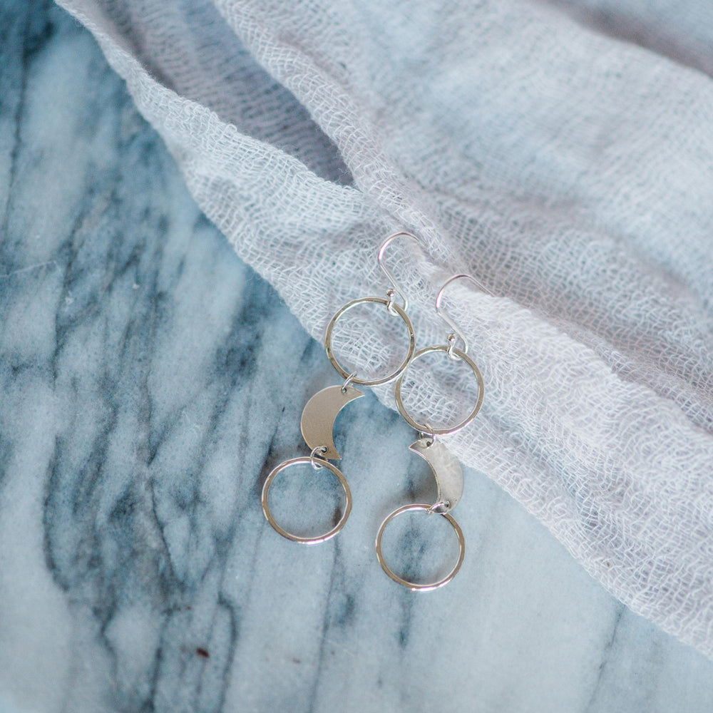 Dangly Moon Earrings