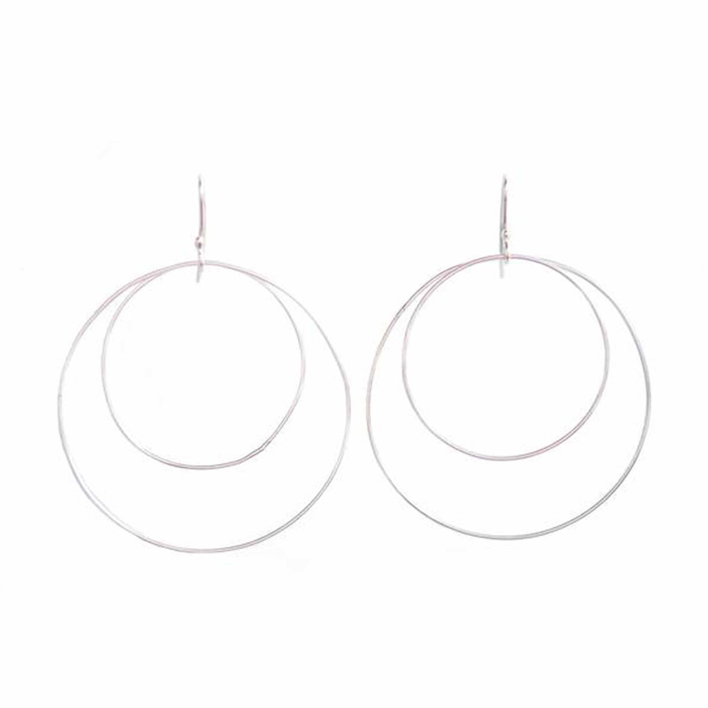 Double Hoop Earrings | Sterling Silver