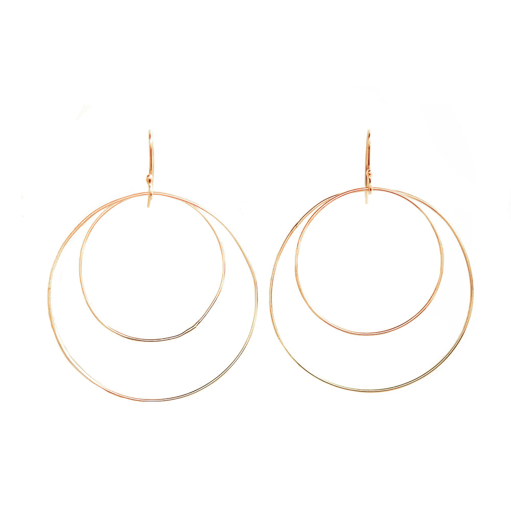 Double Hoop Earrings | 18ct Rose Gold