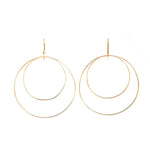 Double Hoop Earrings | 18ct Yellow Gold