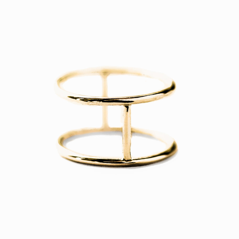 Double Ring | 18ct Rose Gold