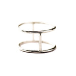 Double Ring | 18ct White Gold