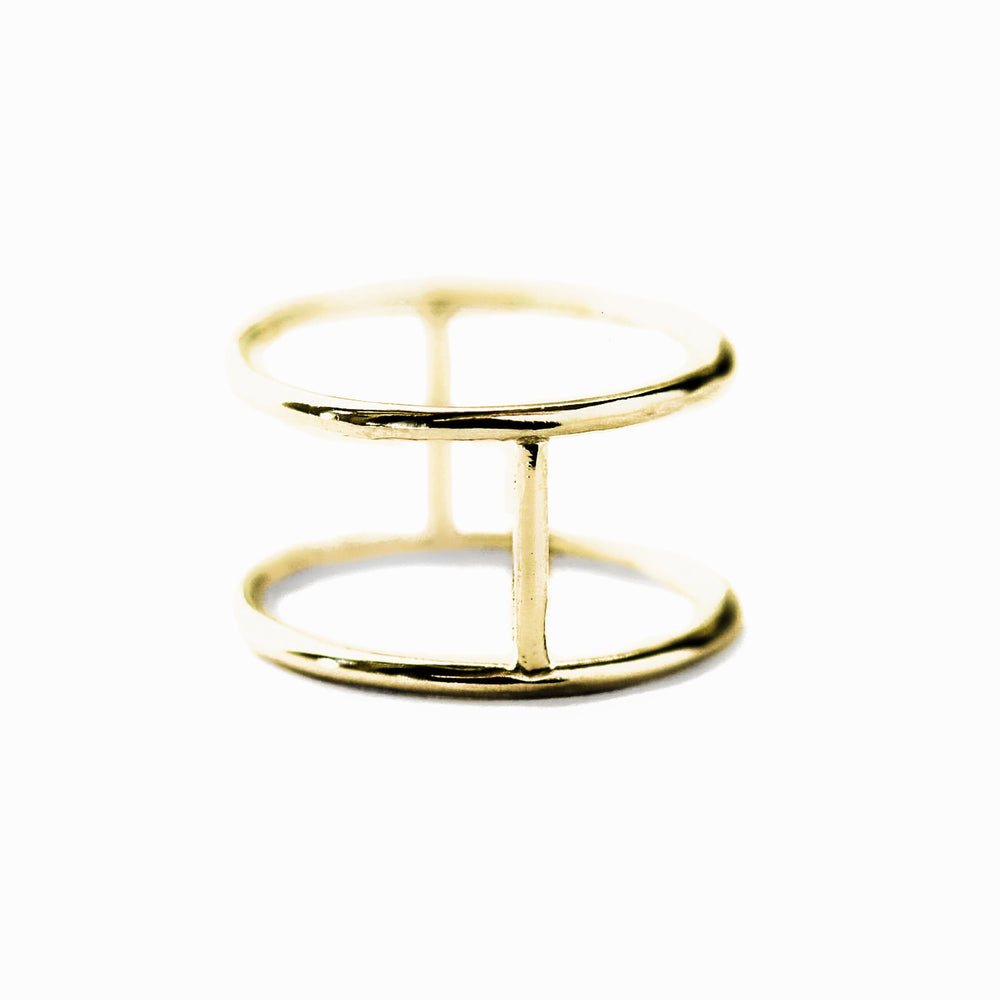 Double Ring | 18ct Yellow Gold
