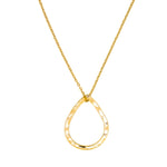 9ct Yellow Gold necklace minimalist handmade