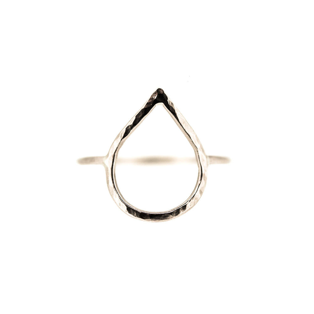eco friendly silver droplet ring