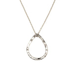 recycled silver necklace dainty raindrop