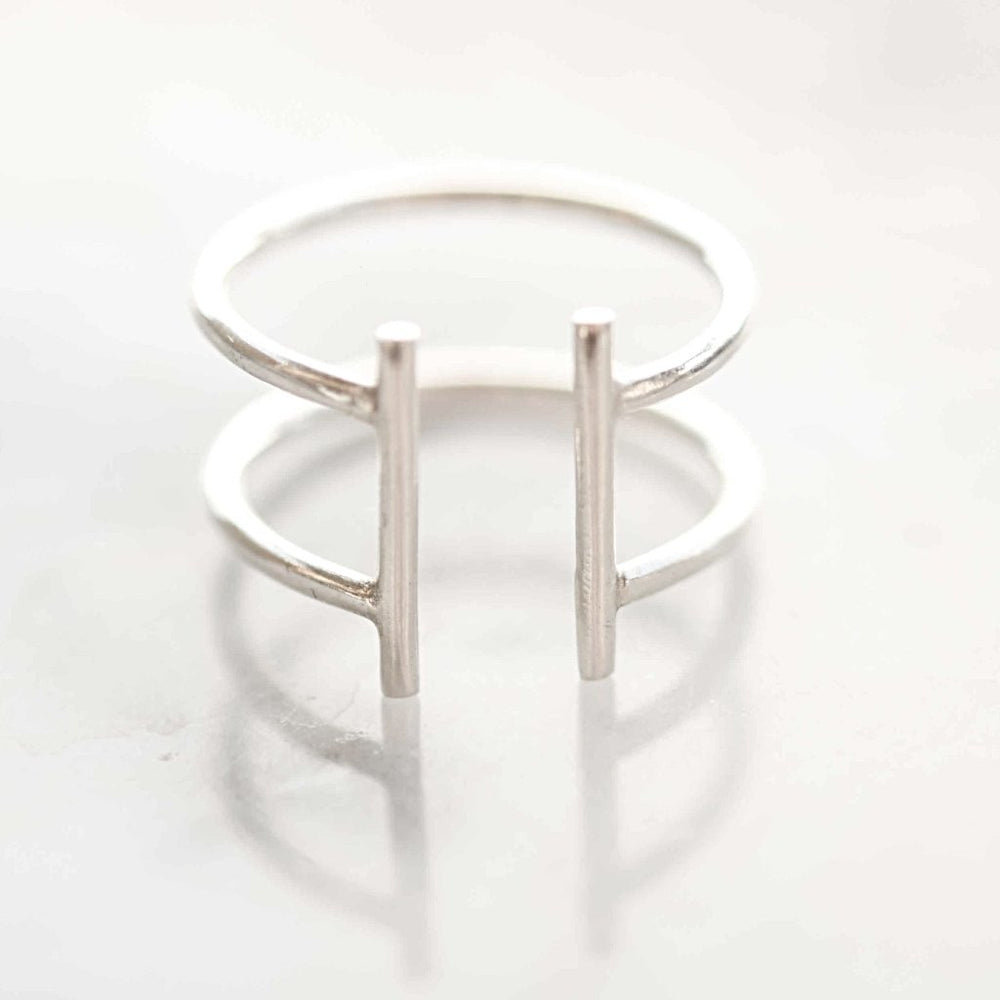 Double Bar Ring - Stockholm Rose Designs - Eco Friendly Jewellery
