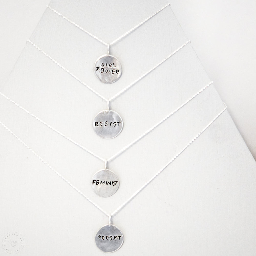 Girl Power Necklace | Sterling Silver