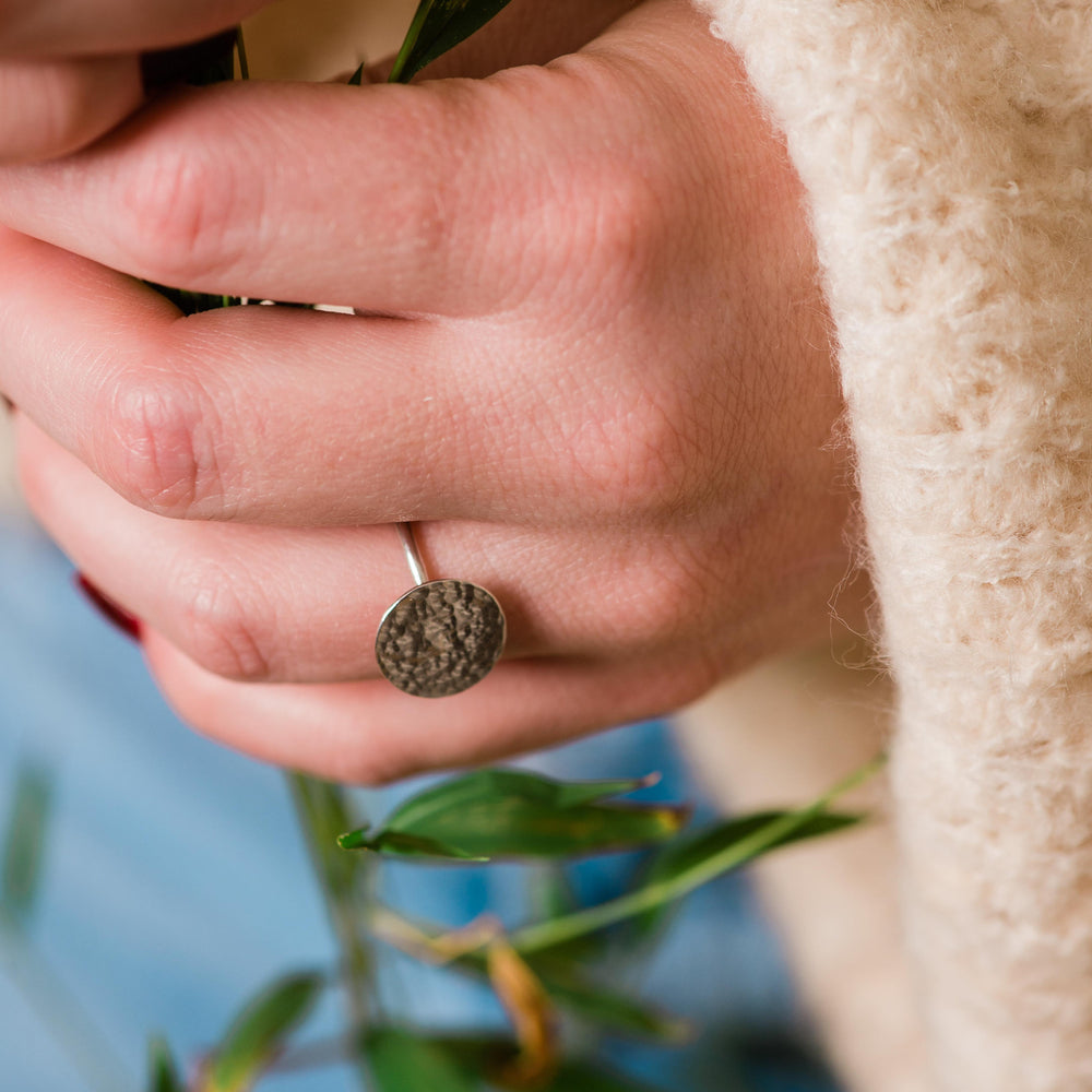 Full Moon Ring | Sterling Silver