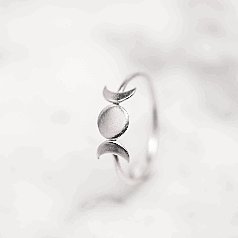 Goddess Moon Ring - Stockholm Rose Designs - Eco Friendly Jewellery