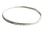 Thin Hammered Bangle - Stockholm Rose Designs - Eco Friendly Jewellery