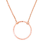 Rose Gold Circle Necklace | Eco Friendly Jewellery