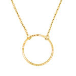 Solid Gold Circle Necklace | Stockholm Rose Designs