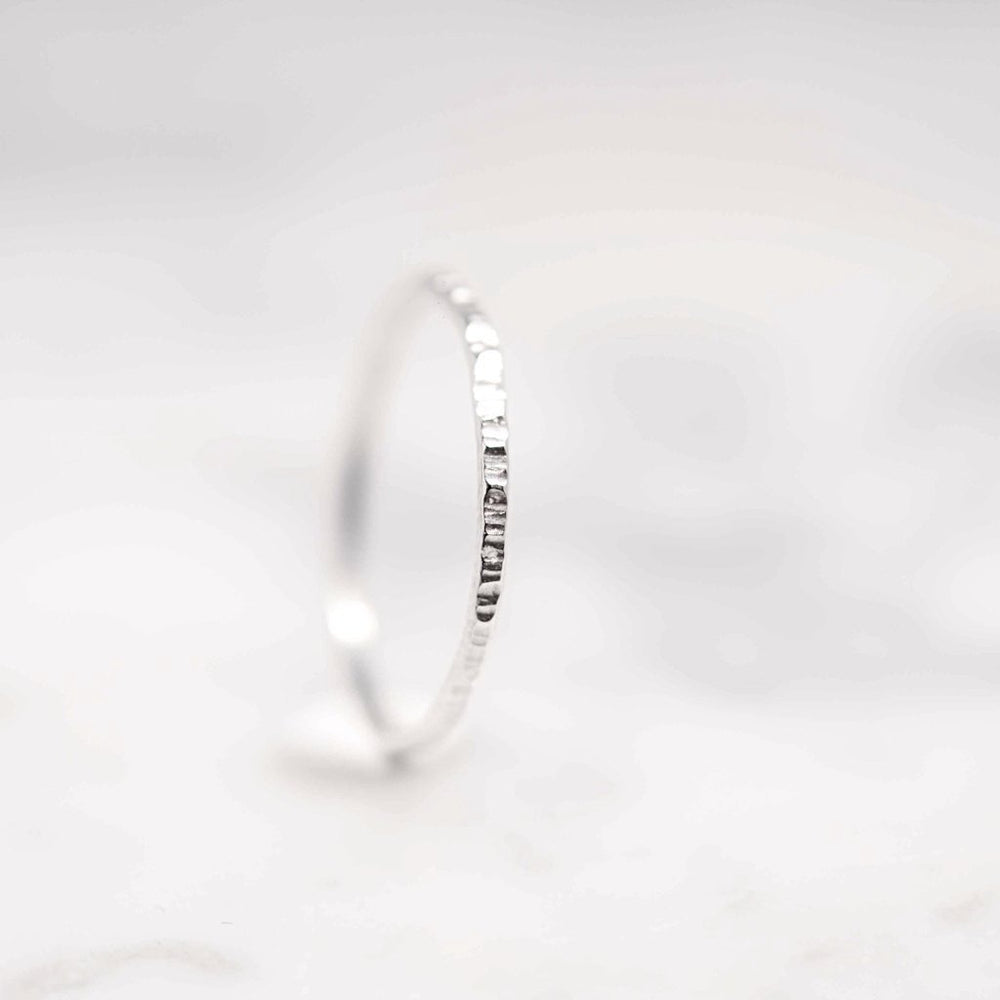 Hammered Stacking Ring - Silver
